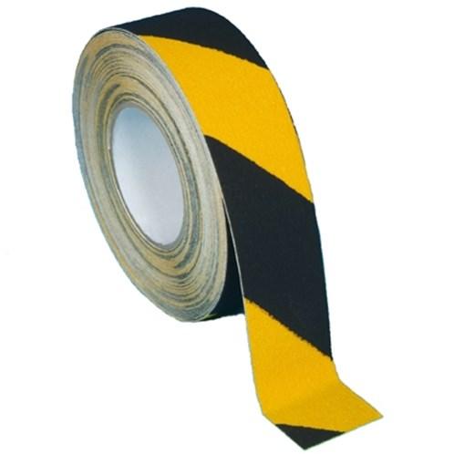 Samolepicí protiskluzová páska žlutočerná 50mm x 18m
