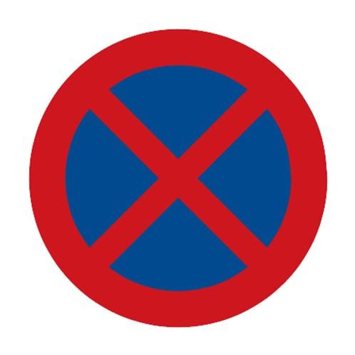 Dopravní značka - Zákaz zastavení