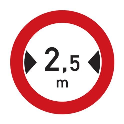 Dopravní značka - Zákaz vjezdu vozidel, jejichž šířka přesahuje vyznačenou mez