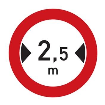 Dopravní značka B15 - Zákaz vjezdu vozidel, jejichž šířka přesahuje vyznačenou mez