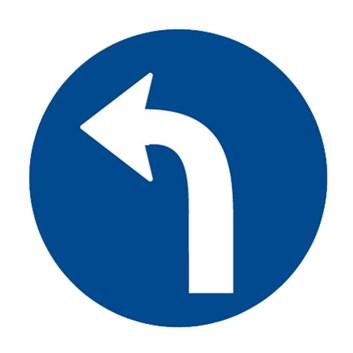 Dopravní značka C2c - Přikázaný směr jízdy vlevo
