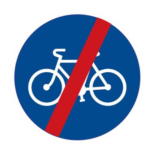 Dopravní značka - Konec stezky pro cyklisty