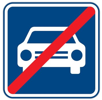 Dopravní značka IZ2b - Konec silnice pro motorová vozidla