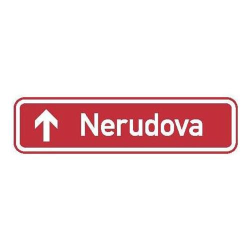 Dopravní značka - Informativní - Označení názvu ulice, IS22b, 1000 x 200mm