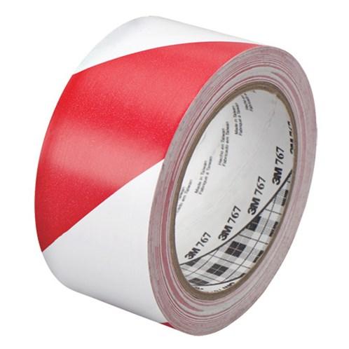 Bezpečnostní páska vytyčovací, PP červenobílá bez potisku, nelepící.