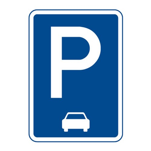 Dopravní značka - Parkoviště (podélné stání), 500 x 700mm