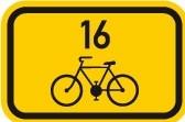 Cyklo značka IS21a - Směrová tabulka pro cyklisty