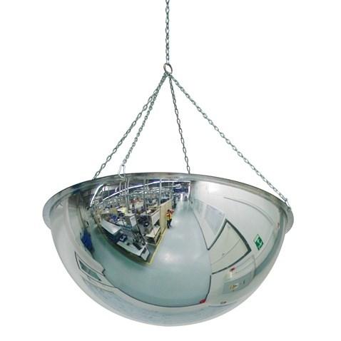 Kontrolní zrcadlo hemisférické  1/2 koule