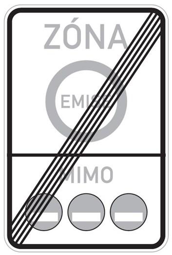 Dopravní značka IZ7b - Emisní zóna