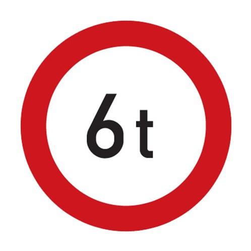 Dopravní značka - Zákaz vjezdu vozdiel, jejichž okamžitá hmotnost přesahuje vyznačenou mez