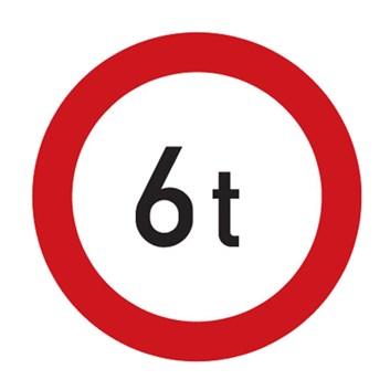 Dopravní značka B13 - Zákaz vjezdu vozidel, jejichž okamžitá hmotnost přesahuje vyznačenou mez