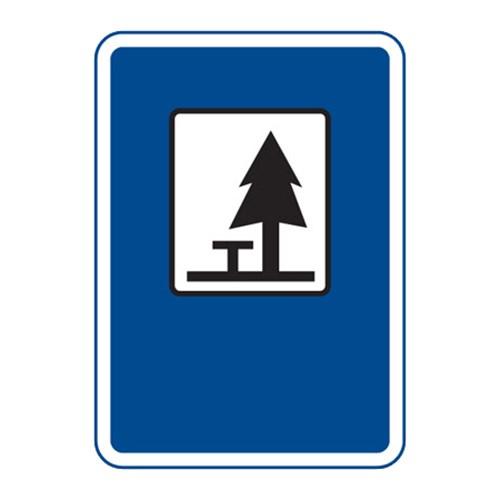 Dopravní značka - Místo pro odpočinek, 500 x 700mm