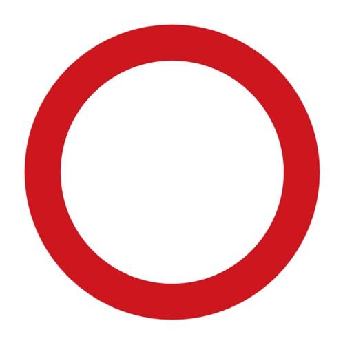 Dopravní značka - Zákaz vjezdu všech vozidel (v obou směrech)