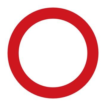 Dopravní značka B1 - Zákaz vjezdu všech vozidel (v obou směrech)