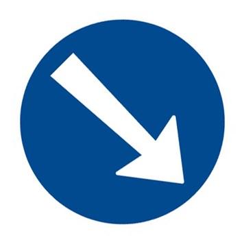 Dopravní značka C4a - Přikázaný směr objíždění vpravo