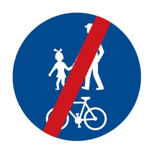 Dopravní značka - Konec stezky pro chodce a cyklisty