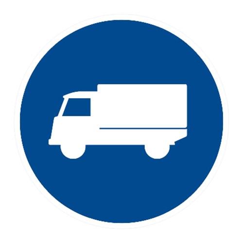 Dopravní značka - Příkázaný jízdní pruh