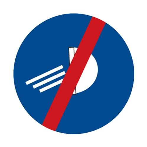 Dopravní značka - Rozsviť světla - konec