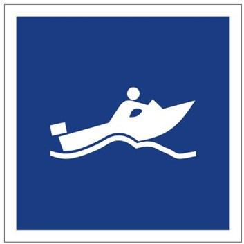 Plavební znak E21 - Plavba malých plavidel, dosahujících vysoké rychlosti, povolena