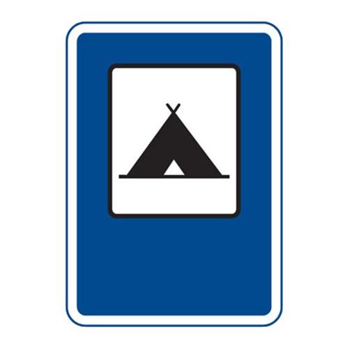 Dopravní značka - Tábořiště pro stany, 500 x 700mm