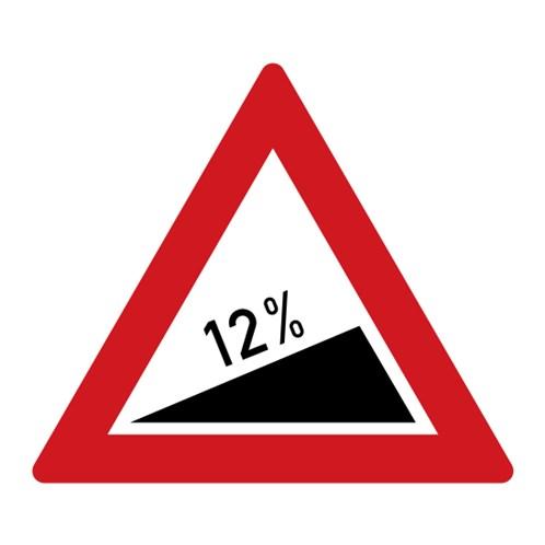 Dopravní značka - Nebezpečné stoupání