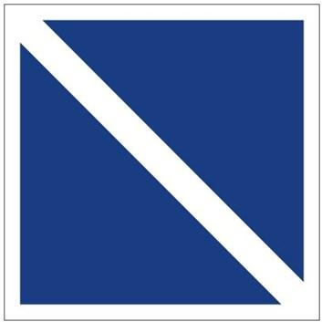 Plavební znak E11 - Konec zákazu nebo příkazu
