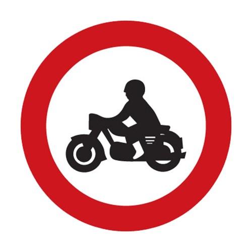 Dopravní značka - Zákaz vjezdu motocyklů