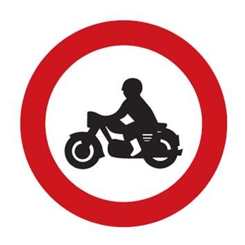 Dopravní značka B7 - Zákaz vjezdu motocyklů