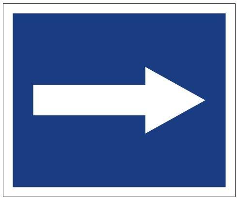 Plavební znak D3 - Doporučuje se plout ve směru šipky | VAKOmobiliář