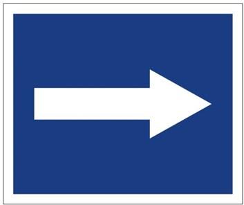 Plavební znak D3 - Doporučuje se plout ve směru šipky