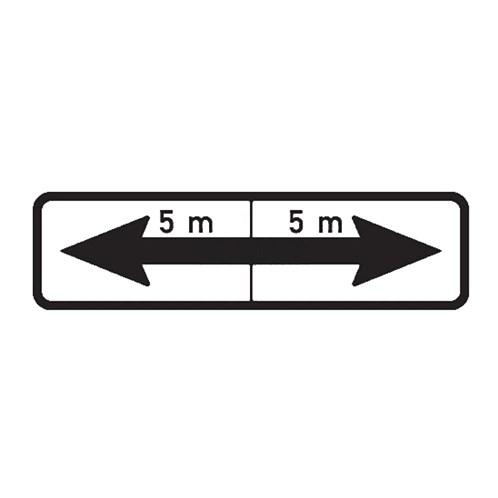 Dopravní značka - Dodatková tabulka -Úsek platnosti, E8e, 500 x 150mm