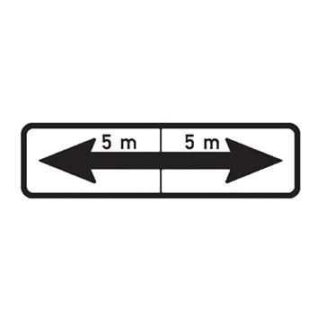 Dopravní značka E8e - Úsek platnosti