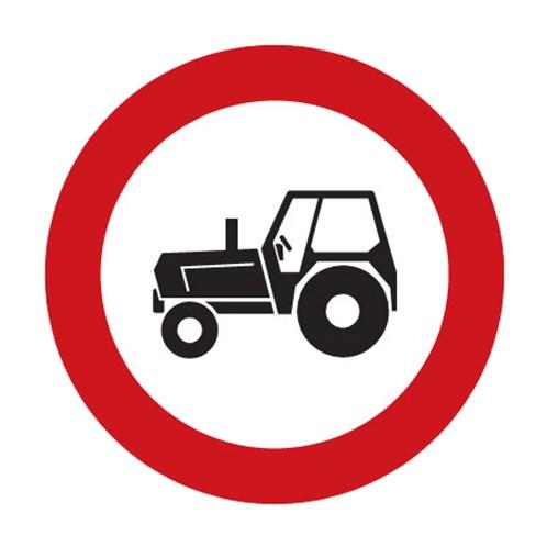 Dopravní značka - Zákaz vjezdu traktorů