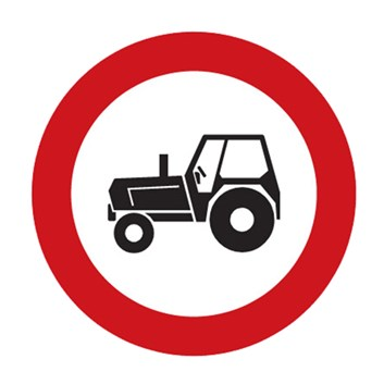 Dopravní značka B6 - Zákaz vjezdu traktorů