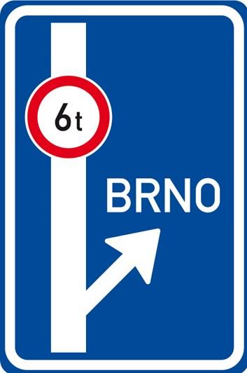 Dopravní značka IS9c - Návěst před křižovatkou
