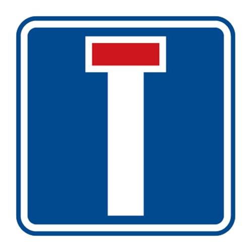 Dopravní značka - Slepá pozemní komunikace