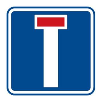 Dopravní značka IP10a - Slepá pozemní komunikace