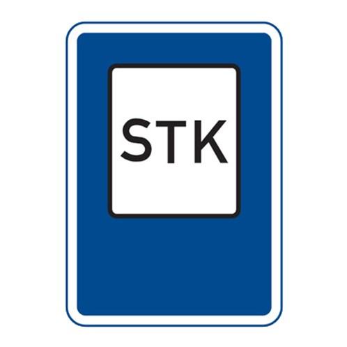 Dopravní značka - Stanice technické kontroly, 500 x 700mm