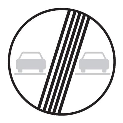 Dopravní značka - Konec zákazu předjíždění