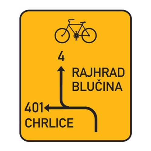 Dopravní značka - Informativní - Návěst před křižovatkou pro cyklist, IS20, 750 x 1000mm