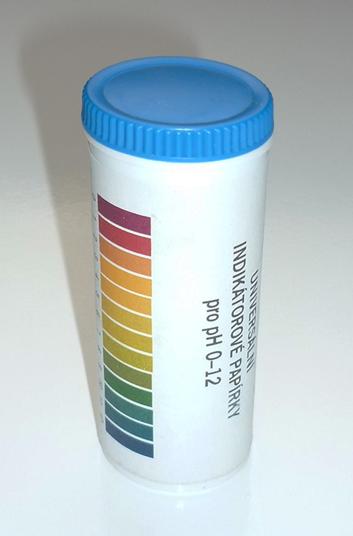 Teploměry, hustoměry, pH indikátorové papírky
