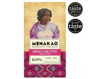 Čokoláda Menakao 63% combava a růžový pepř