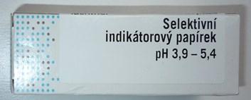 pH selektivní indikátorové papírky pro pH 3,9-5,4