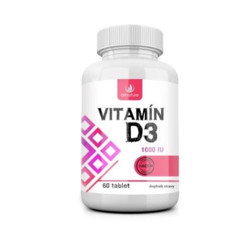 Vitamín D3 Allnature 60 kapslí