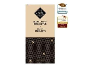 Čokoláda Michel Cluizel Lait 45% Noisettes