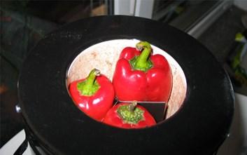 Elektrická šamotová pec na papriky, kukuřici, lilek...