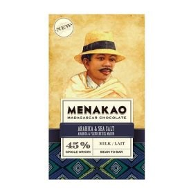 Mléčná čokoláda Menakao Madagaskar 45% s kávou a mořskou solí