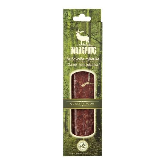 Zvěřinová sušená klobása typu lukanka - jelení a kančí maso 170 g
