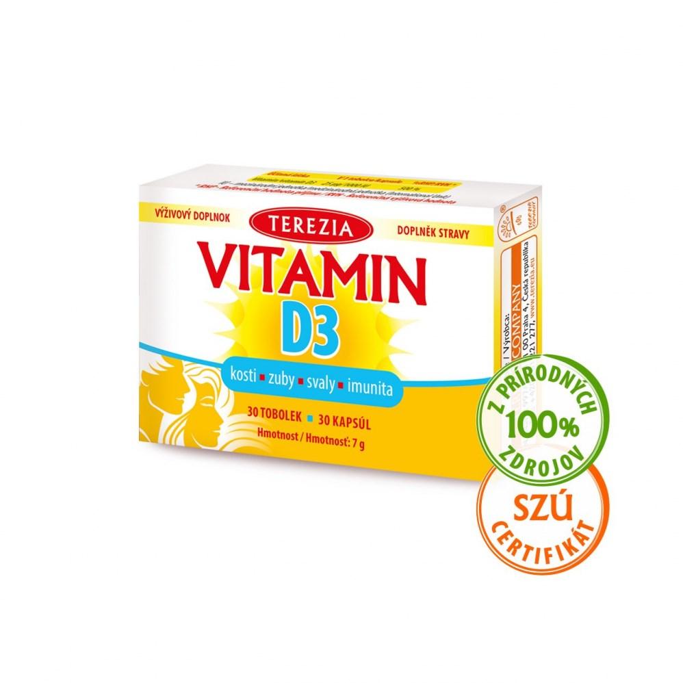 Vitamin D3 1000 IU TEREZIA 30 kapslí