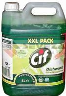 CIF Prof. Dishwash extra strong lemon 5L